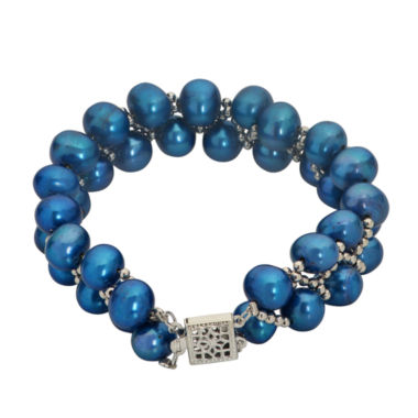 jcpenney.com | 7-8Mm Cultured Freshwater Blue Pearl Sterling Silver Bracelet