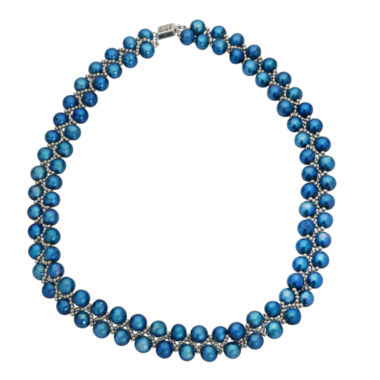 jcpenney.com | 7-8Mm Cultured Freshwater Blue Pearl Sterling Silver Necklace
