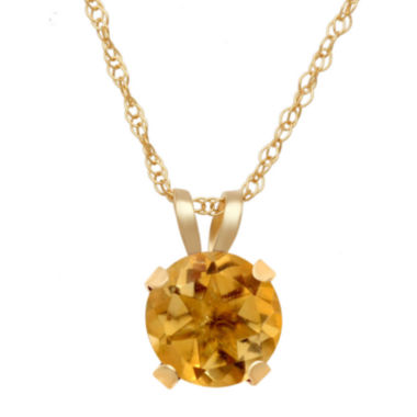 jcpenney.com | Lab Created Citrine Pendant In 10K Yellow Gold