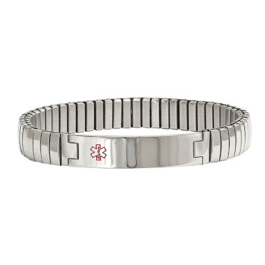 jcpenney.com | Mens Stainless Steel Medical Stretch Bracelet