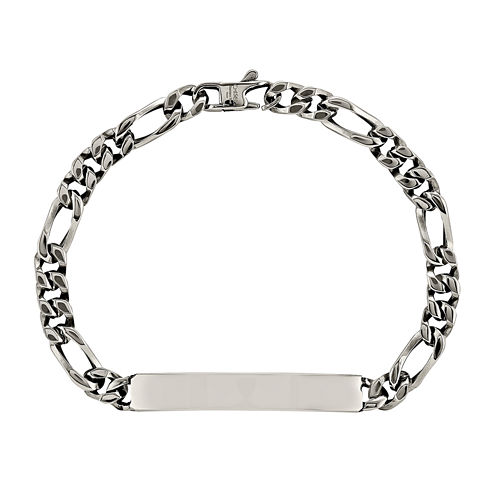 Mens Stainless Steel Chain ID Bracelet