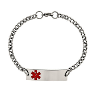 jcpenney.com | Mens Stainless Steel Medical ID Chain Bracelet