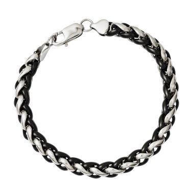jcpenney.com | Mens Stainless Steel Black Ion-Plated Chain Bracelet