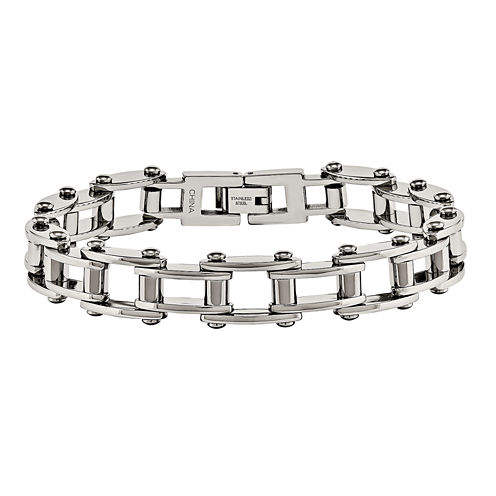Mens Stainless Steel Bicycle Chain Bracelet