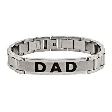 "jcpenney.com | Mens Stainless Steel ""Dad"" Link Bracelet"