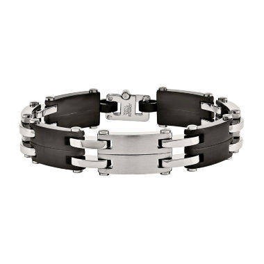jcpenney.com | Mens Stainless Steel Black Ion-Plated Link Bracelet