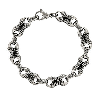 jcpenney.com | Mens Stainless Steel Patterned Chain Bracelet