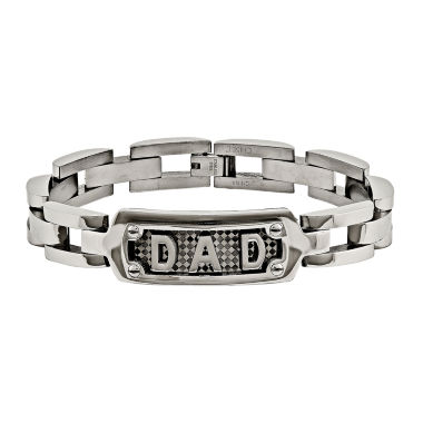 jcpenney.com | Mens Stainless Steel Dad Chain Bracelet
