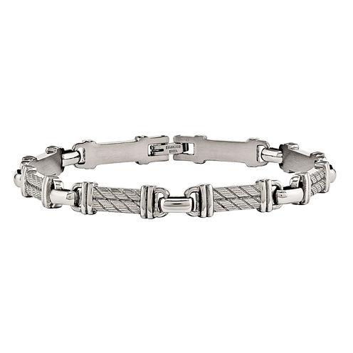 Mens 8 Inch Stainless Steel Chain Bracelet