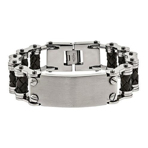 Mens 9 Inch Stainless Steel Chain Bracelet
