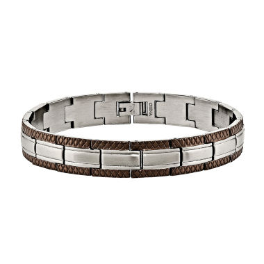 jcpenney.com | Mens Stainless Steel Brown Ip-Plated Chain Bracelet