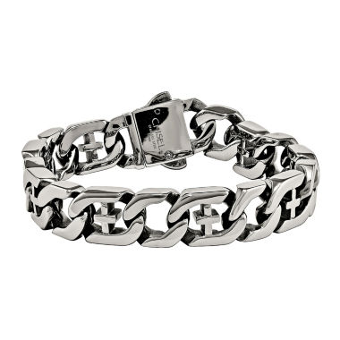 jcpenney.com | Mens Stainless Steel Cross Chain Bracelet