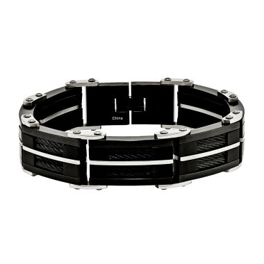 jcpenney.com | Mens Stainless Steel Black Ip-Plated Chain Bracelet