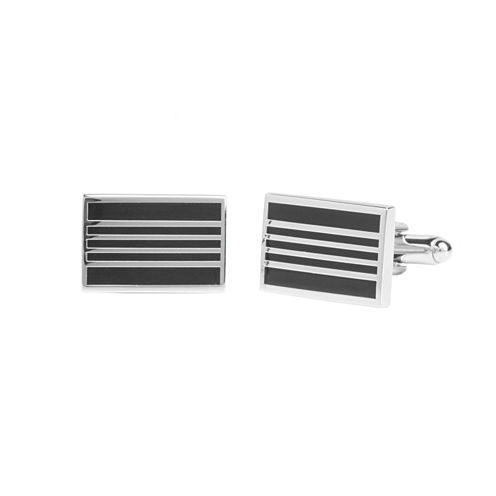 Stafford® Black Stripe Cufflinks