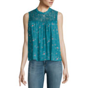 Arizona Sleeveless Lace High-Neck Top