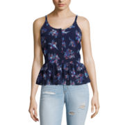 Arizona Peplum Cami or Destructed Skinny Jeans - Juniors