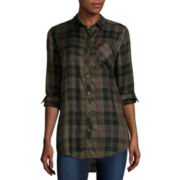 Arizona Long-Sleeve Boyfriend Plaid Shirt