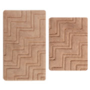 Castle Hill London ZigZag 2-pc. Bath Rug Set