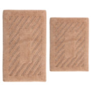 Perthshire Platinum Collection Castle Hill London Diagonal Racetrack Reversible 2-pc. Bath Rug Set