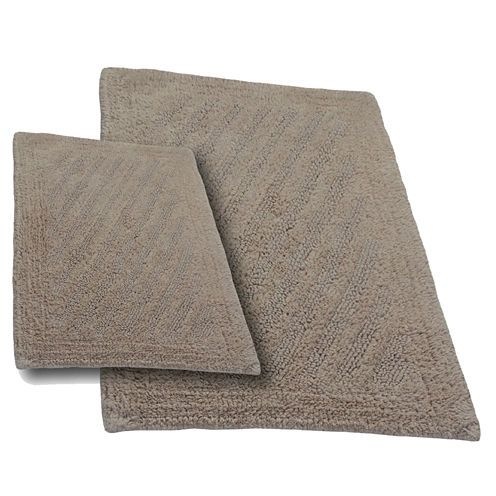Castle Hill London Shooting Star Reversible 2-pc. Bath Rug Set