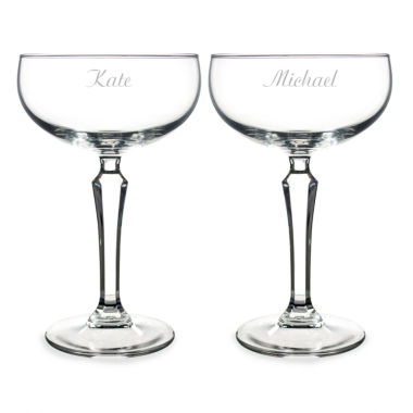 jcpenney.com | Cathy's Concepts Set of 2 Personalized Champagne Coupe Toasting Flutes