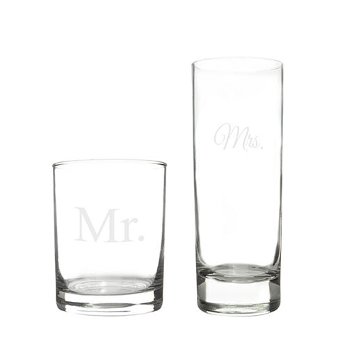 Cathy's Concepts Mr. & Mrs. Cocktail Set