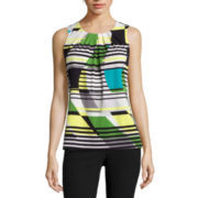 Worthington® Pleated Neck Tank Top