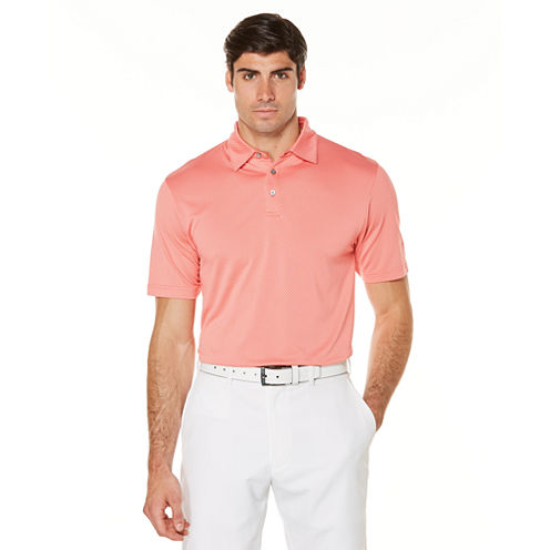 PGA TOUR Short Sleeve Jacquard Jacquard Polo Shirt