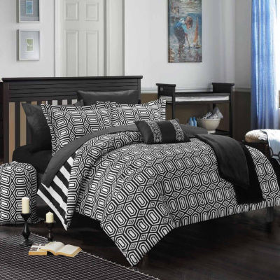 chic home paris midweight reversible comforter set jcpenney. Black Bedroom Furniture Sets. Home Design Ideas