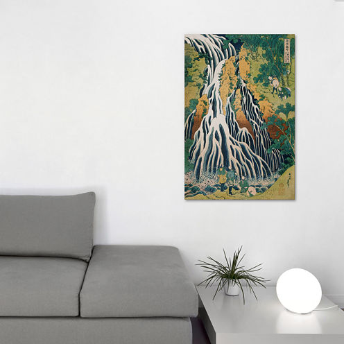 Icanvas Pilgrims At Kirifuri Waterfall Canvas Art