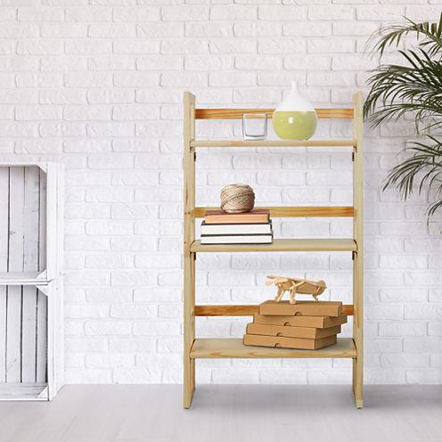 Folding 3-Shelf Student Bookcase