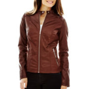 a.n.a® Faux-Leather Scuba Jacket