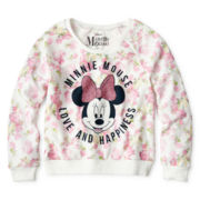 Disney Minnie Mouse Long-Sleeve Floral Sweatshirt - Girls 6-16