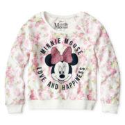 Disney Minnie Mouse Long-Sleeve Floral Sweatshirt - Girls 6-16