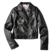 Sally M™ Sally Miller Long-Sleeve Motorcycle Jacket - Girls 6-16