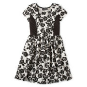 Disorderly Kids® Short-Sleeve Jacquard Ponte Dress - Girls 6-16
