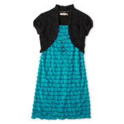 Speechless® Short Sleeve Eyelash Dress - Girls 6-16 and Plus