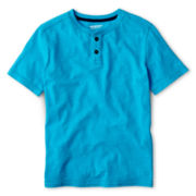 Arizona Solid Short-Sleeve Henley Tee - Boys 6-18