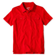 Arizona Short-Sleeve Slub Utility Polo - Boys 6-18