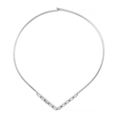 jcpenney.com | nicole by Nicole Miller® Crystal Silver-Tone Collar Necklace