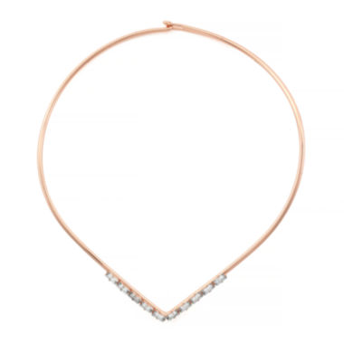 jcpenney.com | nicole by Nicole Miller® Crystal Rose-Tone Collar Necklace