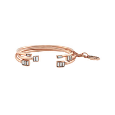 jcpenney.com | nicole by Nicole Miller® 3-pc. Crystal Rose-Tone Bracelets