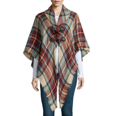 jcpenney.com | Mixit™ Plaid Toggle Wrap