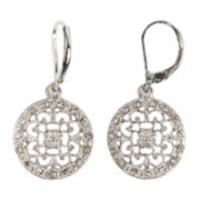 Arizona Silver-Tone Filigree Drop Earrings
