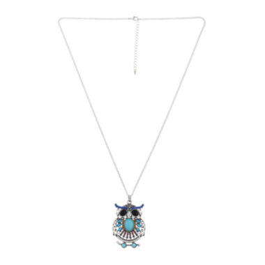 jcpenney.com | Decree® Owl Pendant Necklace