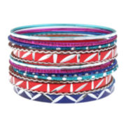 Decree® Multicolor Bangle Bracelet Set