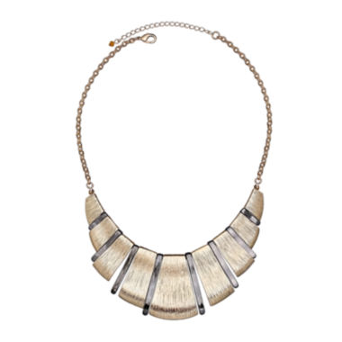 jcpenney.com | Bold Elements™ Mixed-Metal Textured Collar Necklace