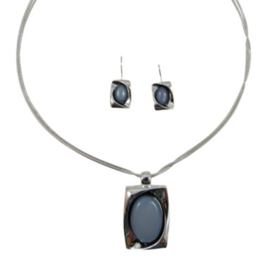 jcpenney.com | Mixit™ Gray Silver-Tone Necklace and Earring Set
