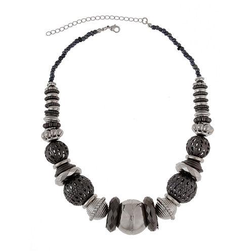 Bold Elements™ Silver-Tone Hematite Necklace