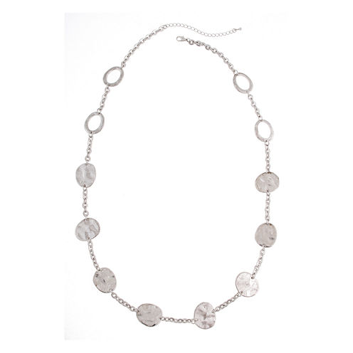 Bold Elements™ Silver-Tone Hematite Necklace